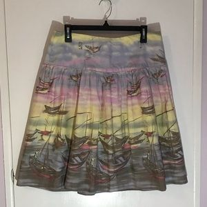 Odille anthropology sunset boat skirt